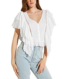 Eco Marzia Ruffled Cotton Top