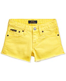 Toddler Girls Polo Cotton Denim Shorts