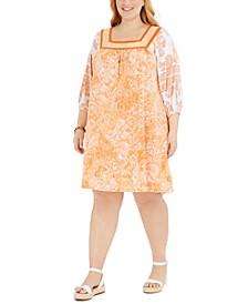 Plus Size Paisley Popover Dress