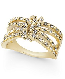 Gold-Tone Pavé Knotted Multi-Row Ring, Created for Macy's