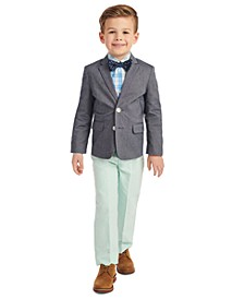 Little Boys 4-Pc. Solid Oxford Duo Set