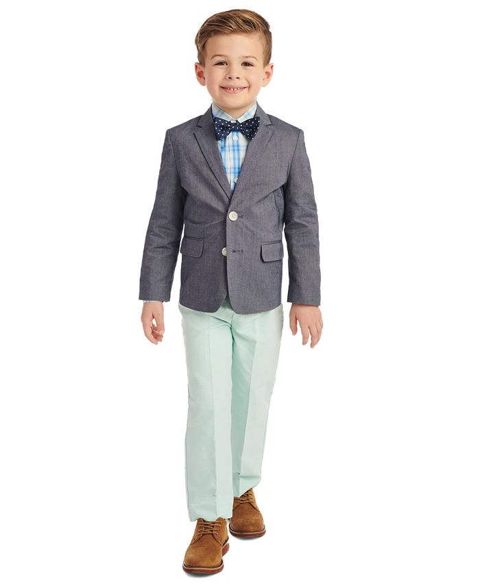 Nautica - Toddler Boys 4-Pc. Solid Oxford Duo Set