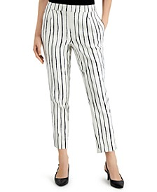 Petite Striped Capri Pants, Created for Macy's