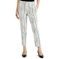 Alfani Striped Pull-On Pants