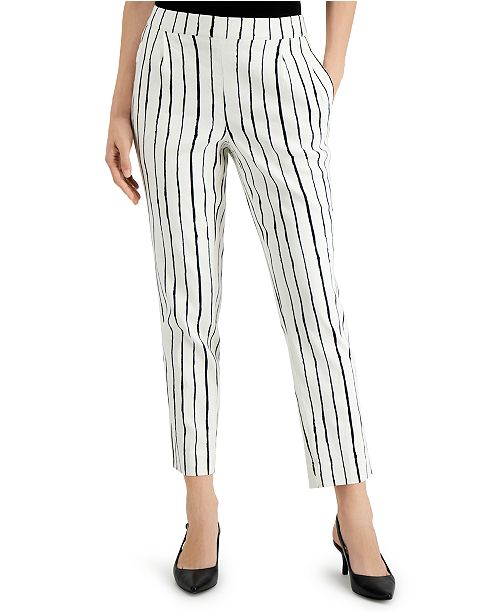 Alfani Petite Striped Capri Pants, Created for Macy's