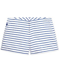 폴로 랄프로렌 걸즈 반바지 Polo Ralph Lauren Big Girls Striped Cotton Poplin Shorts,Blue Multi