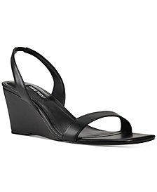 Nine West Women's Kalia Wedge Sling Back Sandals