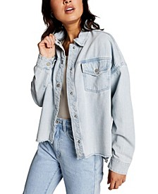 Popped Denim Shacket