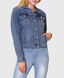 Plus Size Classic Denim Jacket
