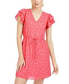 Printed Drawstring-Waist Dress, Created For Macy's
