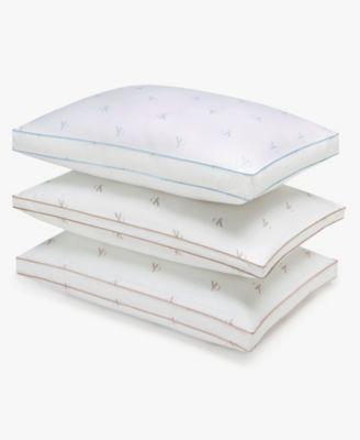 Monogram Logo Firm Support Cotton Pillow, Standard/Queen