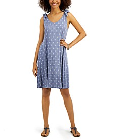 Printed Tie-Sleeve Dress, Created for Macy's