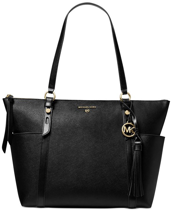 Michael Kors Nomad Large Leather Top Zip Tote