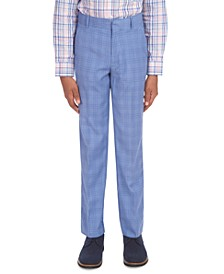 Big Boys Stretch Glen Plaid Suit Pants