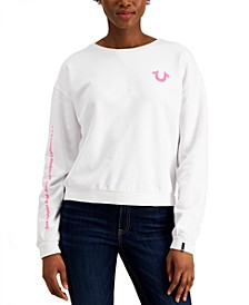 Striped Horseshoe-Graphic Sweatshirt