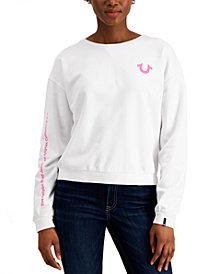 True Religion Striped Horseshoe-Graphic Sweatshirt