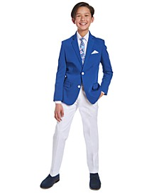 Big Boys Blue & White Suit Separates and Sets