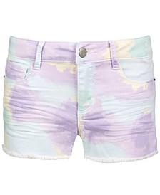 Big Girls Pastel-Print Denim Shorts