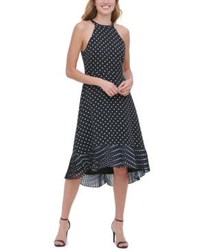 kensie Dot-Print Midi Dress