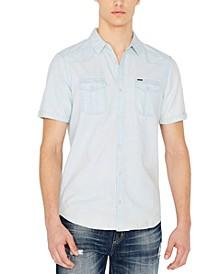 Men's Silous Denim Woven Short Sleeve Shirt