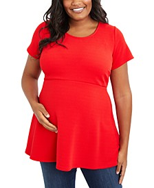 Plus Size Peplum Top