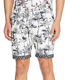 "Men's Slim-Fit Palm Tree 9"" Shorts"