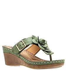 Flora Wedge Sandal