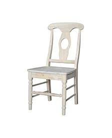 Empire Chairs with Solid Wood Seats, Set of 2