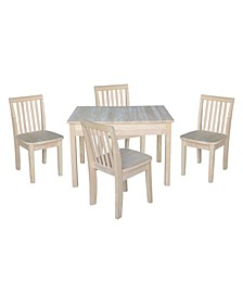 Table with 4 Mission Juvenile Chairs