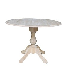 "42"" Round Dual Drop Leaf Pedestal Table"