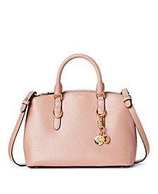 Saffiano Leather Mini Zip Satchel