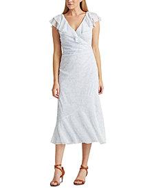 Lauren Ralph Lauren Floral-Print Georgette Cap-Sleeve Dress
