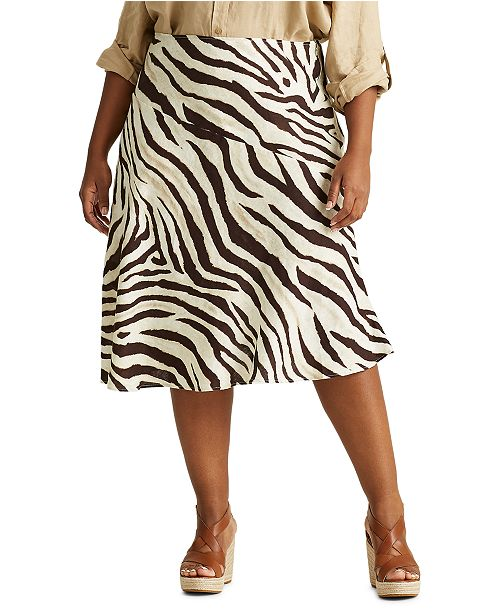 Lauren Ralph Lauren Plus Size A-Line Skirt