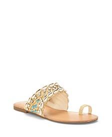 Abira Toe Thong Flat Sandals