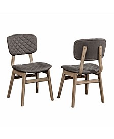 Alden Bay Modern Diamond Stitch Upholstered Dining Chair, Set of 2