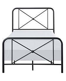 Williamsburg Metal Bed with Decorative Double X Design, Twin