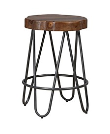 Pembra Backless Counter Height Stool with Wood Seat