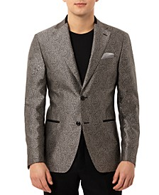 Men's Slim-Fit Versatile Leopard Print Dinner Jacket