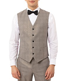 Men's Slim-Fit Plaid Tuxedo Vest