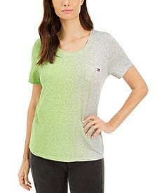 Scoop-Neck Ombré T-Shirt