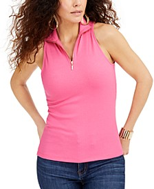 Zip-Front Halter Top, Created for Macys