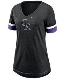Colorado Rockies Women's Tri-Blend Fan T-Shirt