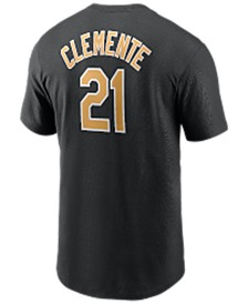 Pittsburgh Pirates Men's Coop Roberto Clemente Name and Number Player T-Shirt