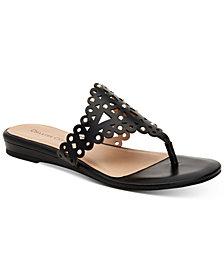 Charter Club Omanii Thong Slide Flat Sandals, Created for Macy's