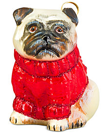 Joy to the World Pet Ornament, Diva Dog Pug Fawn