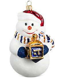 Joy to the World Interfaith Union Snowman Hanukkah Ornament