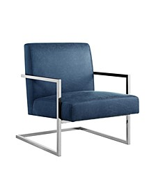 Chester Accent Chair with Square Metal Arm and Base