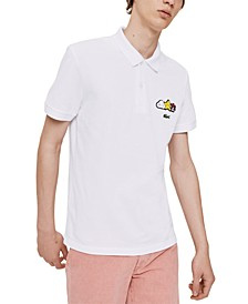 Men's Croco Series FriendsWithYou Limited-Edition Polo with Cartoon Graphics