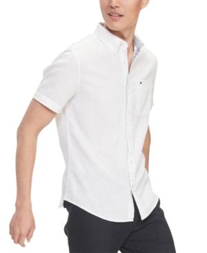 Tommy Hilfiger Men's Custom-Fit Peter Solid Shirt