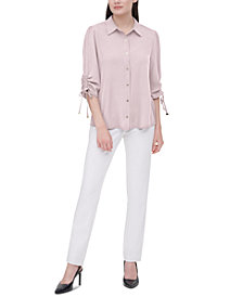 Calvin Klein Drawstring-Sleeve Shirt